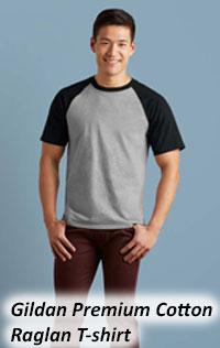 Gildan Premium Cotton Raglan Roundneck Tshirt 76500