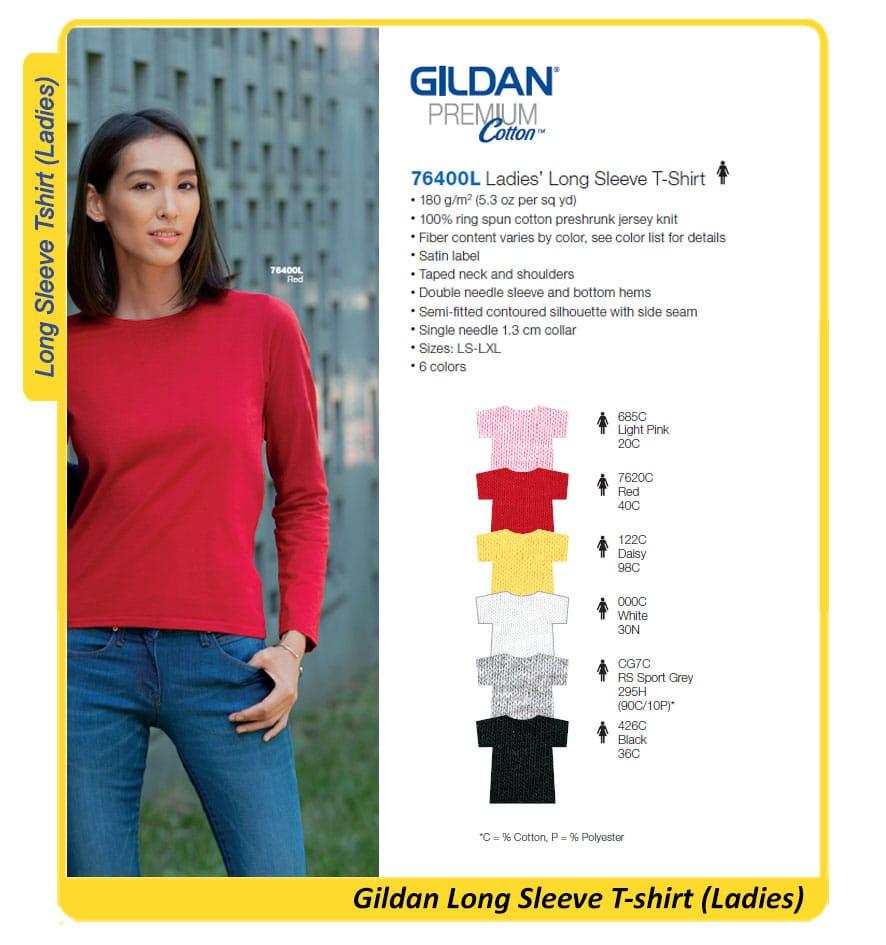 Gildan Premium Long-sleeve Ladies 76400L