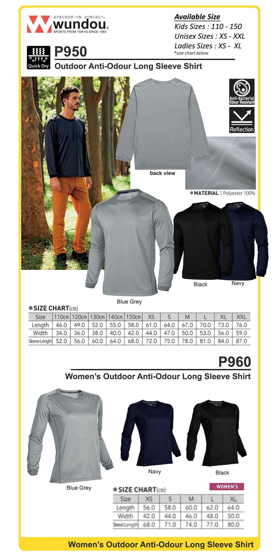 outdoor long-sleeve anti-odour Tshirt